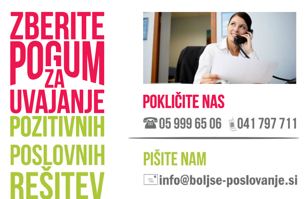 Kontakt Boljše poslovanje