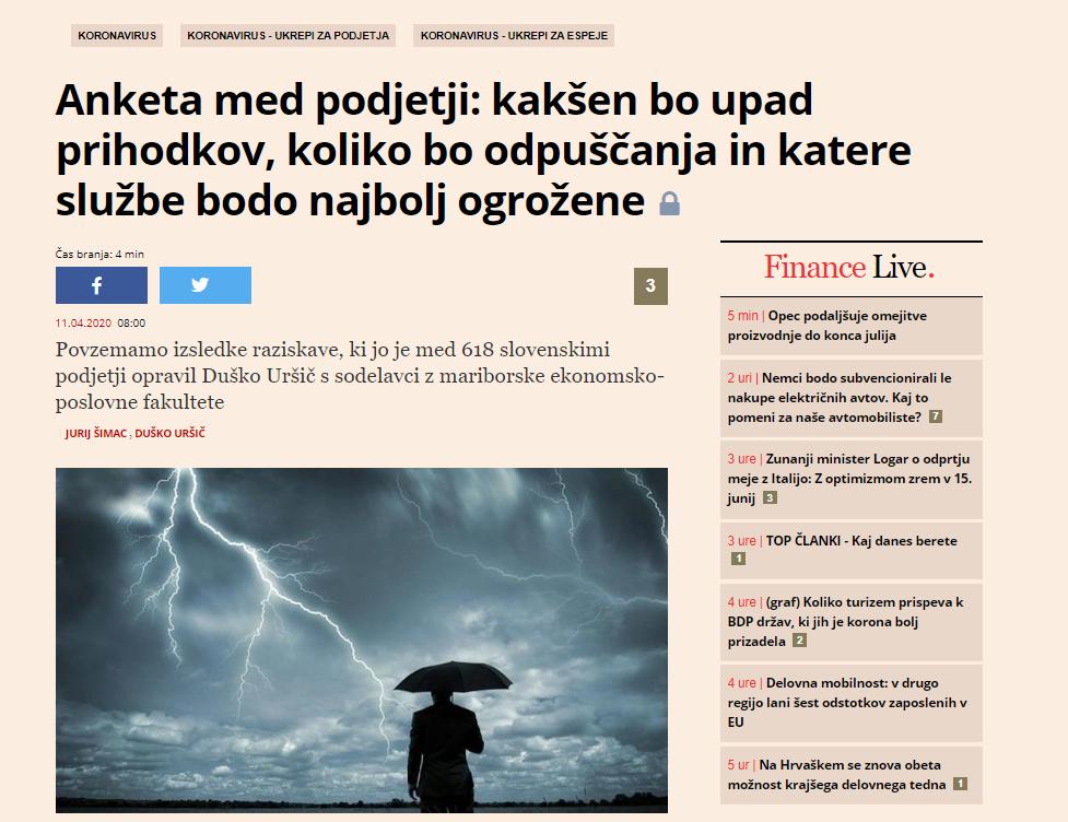 Članek Duško Uršič
